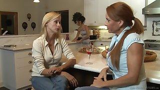 Skinny lesbian mature couple Janet Mason and Zoey Kush