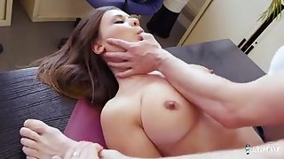 A provocative college girl cracked