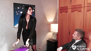 Good looking assistant is frequently providing awesome fellatios to her manager, because she luvs his manhood