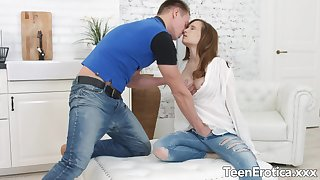 Lucky BF Makes Love not far from Teen Stasya Stoune added to Fills The brush with His Hot Seed