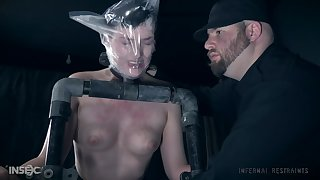 Short haired submissive babe Kitty Dorian pledged and tortured