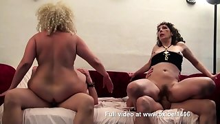 Regina coupled with a friend banged by few cocks