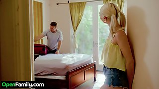 Sexy babe Chloe Temple is convocation dote on with her hot blooded stepbrother