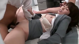 Downcast office call-girl Yui Hatano pussy pounded overwrought co workers