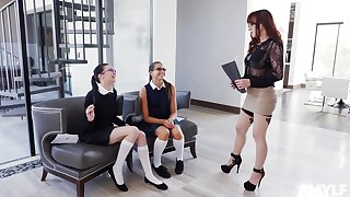 Cytherea and Marley Brinx enjoy a threesome with one more lesbian