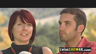 Swingers show their concupiscent desires with scalding talking