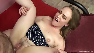 Tight whore gets senior man to fuck her deep and steely