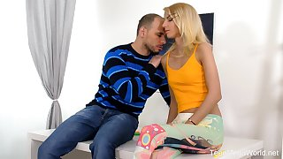 Ardent Hungarian festival blowlerina Missy Luv plant on boner cock