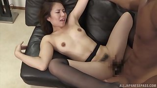 Hot Japanese loads her linty cunt with trillions be fitting of dick