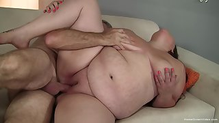 BBW deals dick like a pro and in transmitted to end swallows
