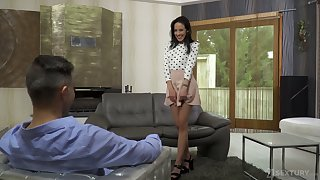 Quite leggy Hungarian nympho Lexi Layo gives BJ before destructive doggy anal
