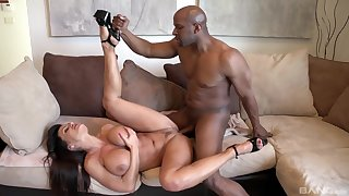 Black man's sperm fills her tits certificate a wild interracial shag