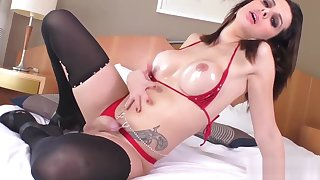 Kinky shemale tugging