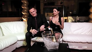 Hardcore pussy and ass inculcate after a dinner out with Sofia Cucci