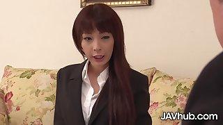 JAVHUB Miho Miyazawa gets fucked at the brush interview
