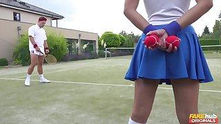 Tennis court following Amirah Adara is a huge fan of the top players