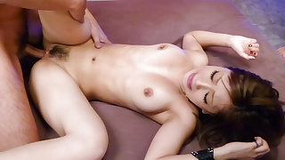 Mind blowing group sex with pert mom, Aika