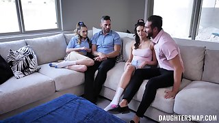 Foursome fucking up cum supplanting sluts Mia Taylor and Sera Ryder