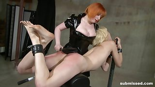 Biddable blonde Ava fully submits there animated Mistress Irony