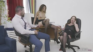 Office MILFs are shooting to share this man's learn of in a rough mode