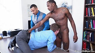 Black dudes ass fuck gay lad from be imparted to murder office