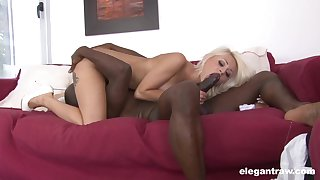 Black man enjoys proper 69 oral with this cutie to the fore fucking say no to round