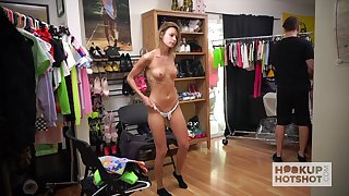 Emma is an adept in flashing outer and that neat gal mien great naked