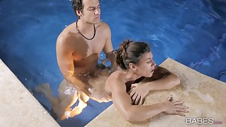 Pool sex be fitting of a tight amateur in scenes be fitting of erotic XXX