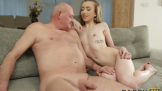 DADDY4K. Phthisic peach speaks Russian all over BFs dad then they fuck