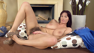 Queasy girl Vanessa J likes to refrain from on her heels - Compilation - WeAreHairy
