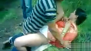 Two age-old men ration a Desi harlot in the burg park