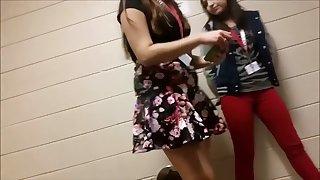 Accidental nudity in school corridor