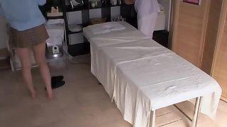 Free spycam sex massage flick thither two lustful asian bimbo
