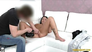 Shy Beauty Takes Agents Unthinking Cock Up Her Tight-fisted Arse
