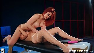 Redhead sex video featuring Molly Stewart and LaSirena69