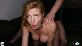 Sexy Redhead With Pierced Nipples Enjoys Rough Sex